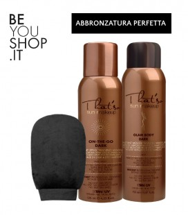 Kit abbronzatura perfetta - On the Go Dark - Glam Body Mousse - Guanto per applicazione